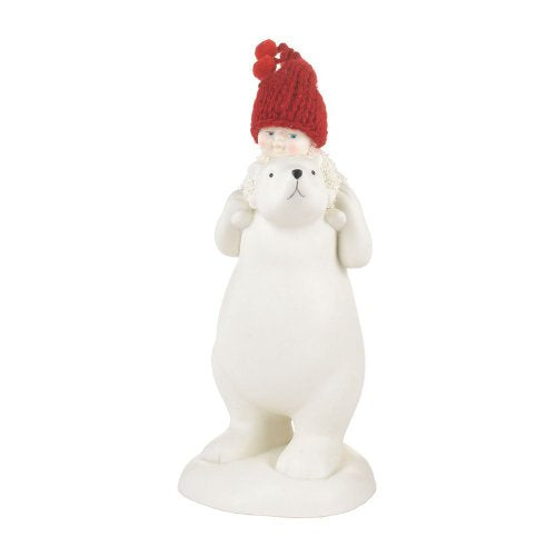 Department 56 Snowbabies Classics Bear Back Ride Figurine, 6.3-Inch