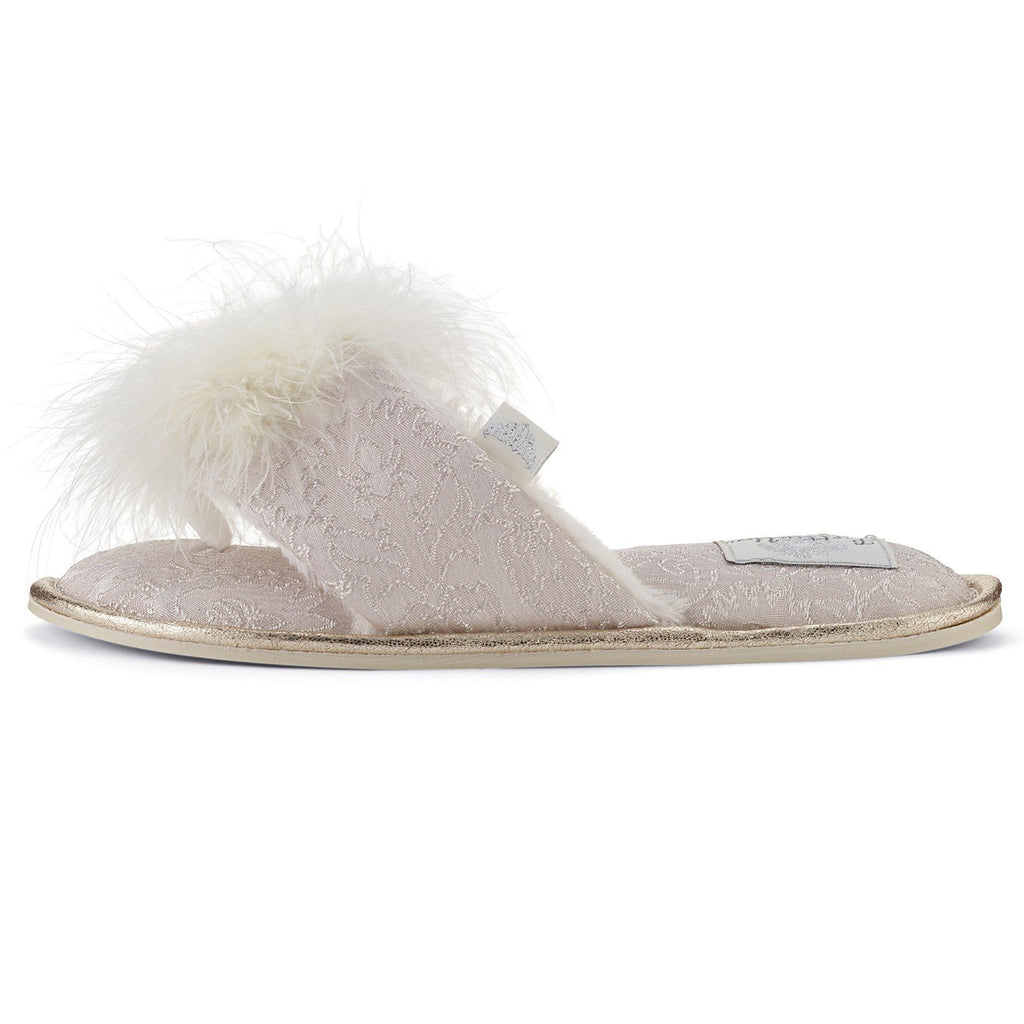 Pretty You London Slippers (SMALL 5-6, TRIXIE WHITE)