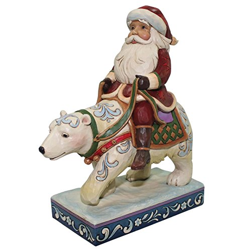 Enesco by Jim Shore Heartwood Creek Santa Riding Polar Bear