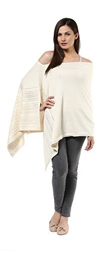 Darzi Pointelle Poncho, Natural