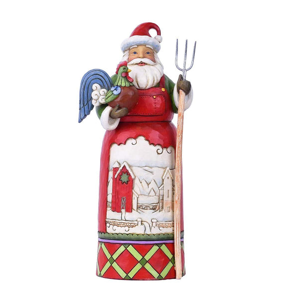Enesco Country Living by Jim Shore Santa with Farm Scene Figurine
