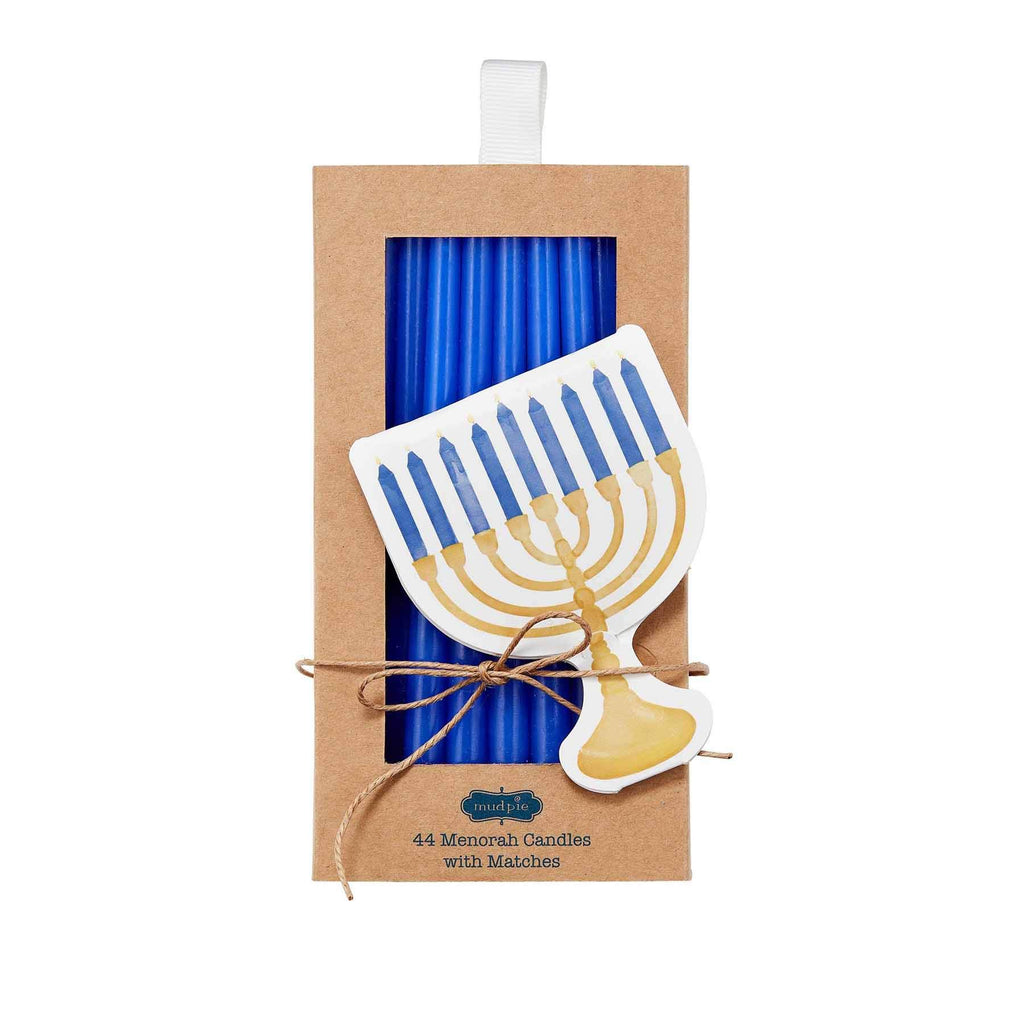 Mud Pie Menorah Design Pack of 44 Menorah Candles with Matches Set of 2