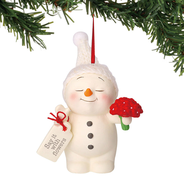 Department 56 Snowpinions Say it with Flowers Hanging Ornament, 3""