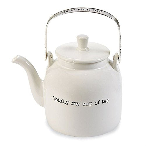 Mud Pie Totally My Cup of Tea Ceramic Teapot