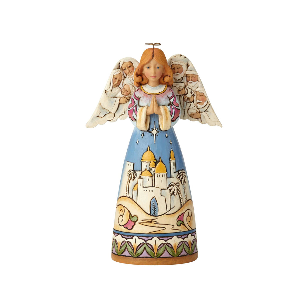 Department56  Angel with Nativity Jim Shore Heartwood Creek