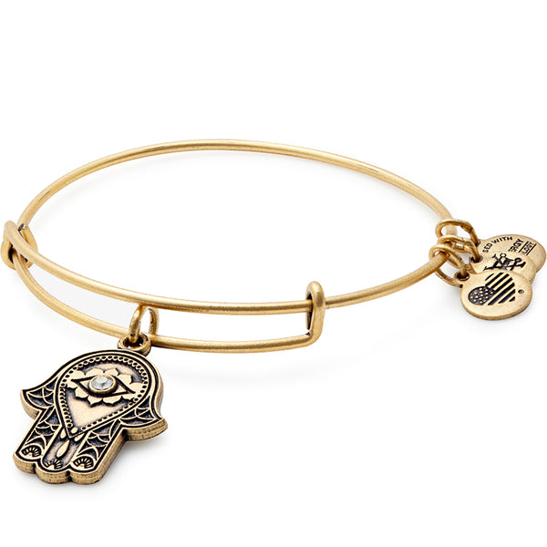 Alex and Ani Hand of Fatima Charm Bangle, Gold
