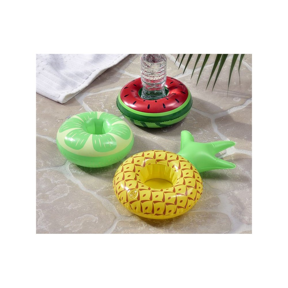 Giftcraft Let's Flamingle Inflatable Fruit Design Drink Holder, Set of 3