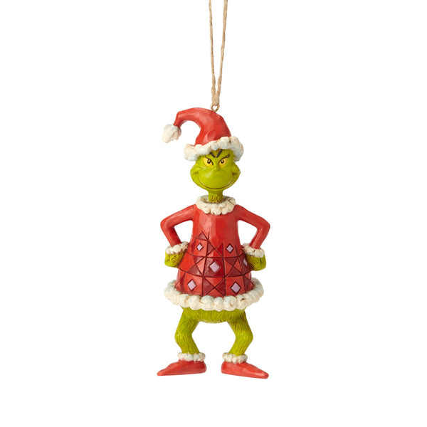 Jim Shore Grinch Dressed As Santa Hanging Ornament