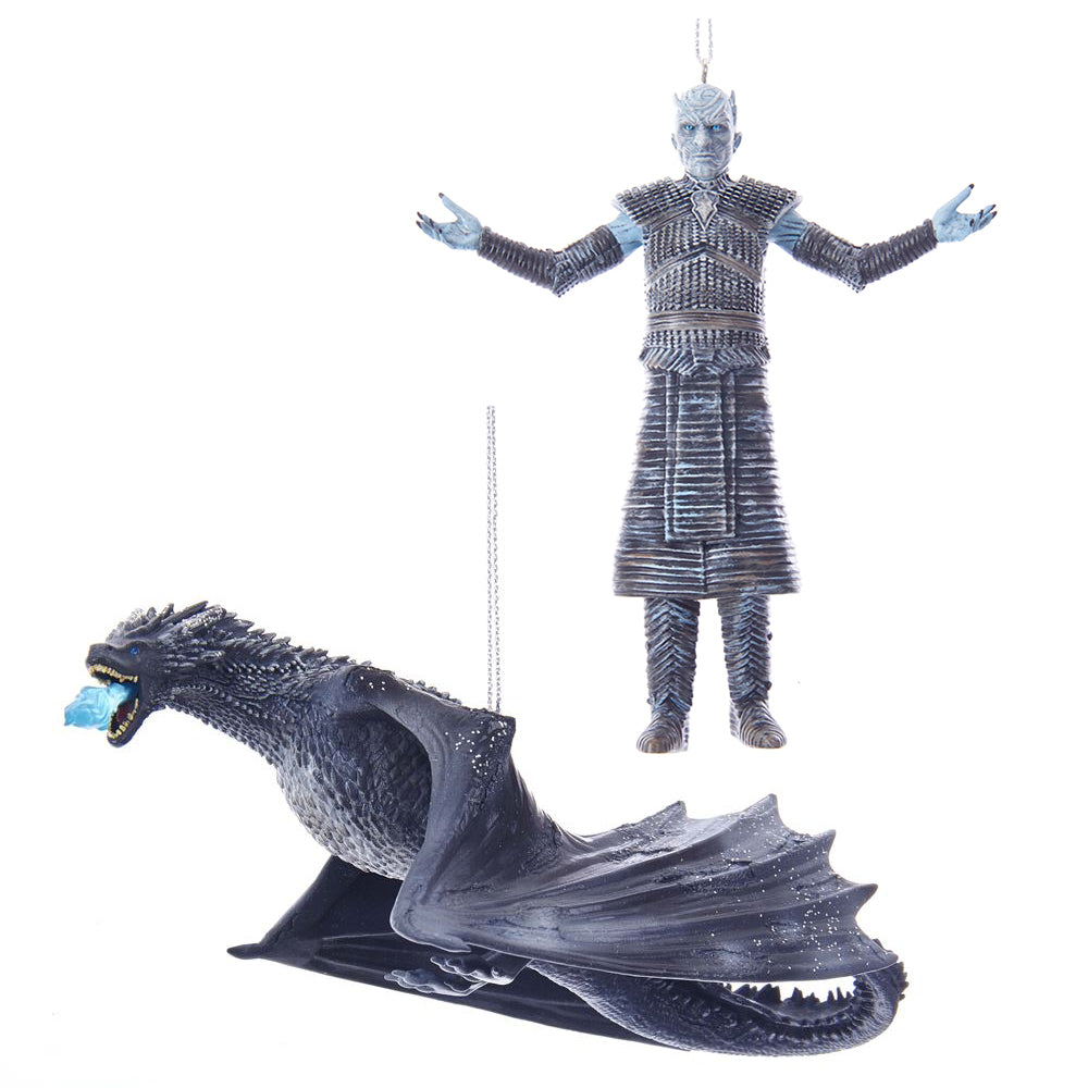 Kurt Adler Game Of Thrones™ Night King & Ice Dragon Ornament Bundle
