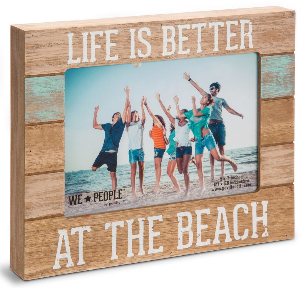 "Pavilion Gift Company 67242 We People-Life is Better at The Beach Picture Frame, 5""x7"""