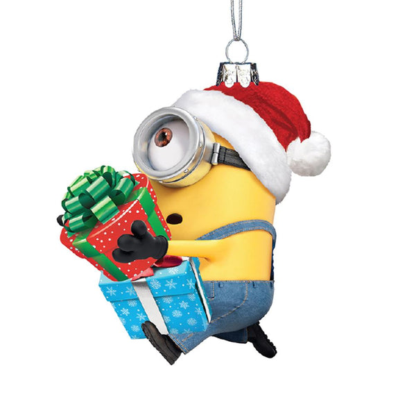 Kurt Adler Despicable Me™ Glass Minion Karl With Present Ornament
