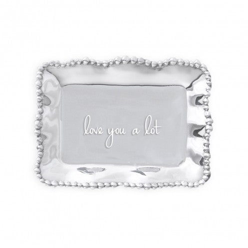 Love You A Lot Giftables Pearl 7 x 5 Inch Aluminium Alloy Engraved Trinkey Tray
