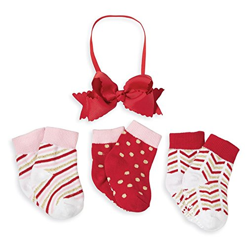 Mud Pie Kids Gold Holiday Sock & Headband Set