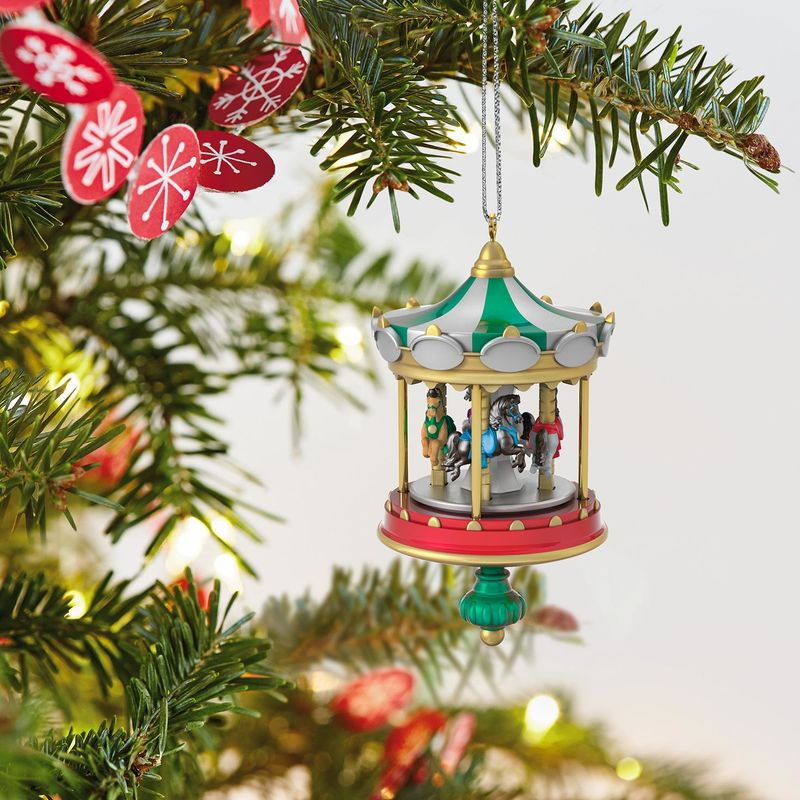 hallmark keepsake 2018 mini christmas carousel ornament 22 - Christmas Carousel Decoration