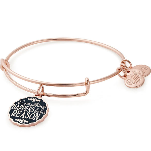 Alex and Ani Everything Happens For A Reason Charm Bangle, Rose Gold
