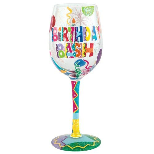 Lolita Birthday Bash Artisan Hand Painted Wine Glass