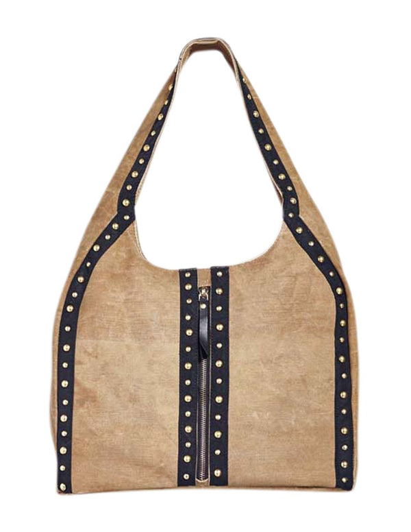 Mona B Wild Streak Canvas Tote Bag