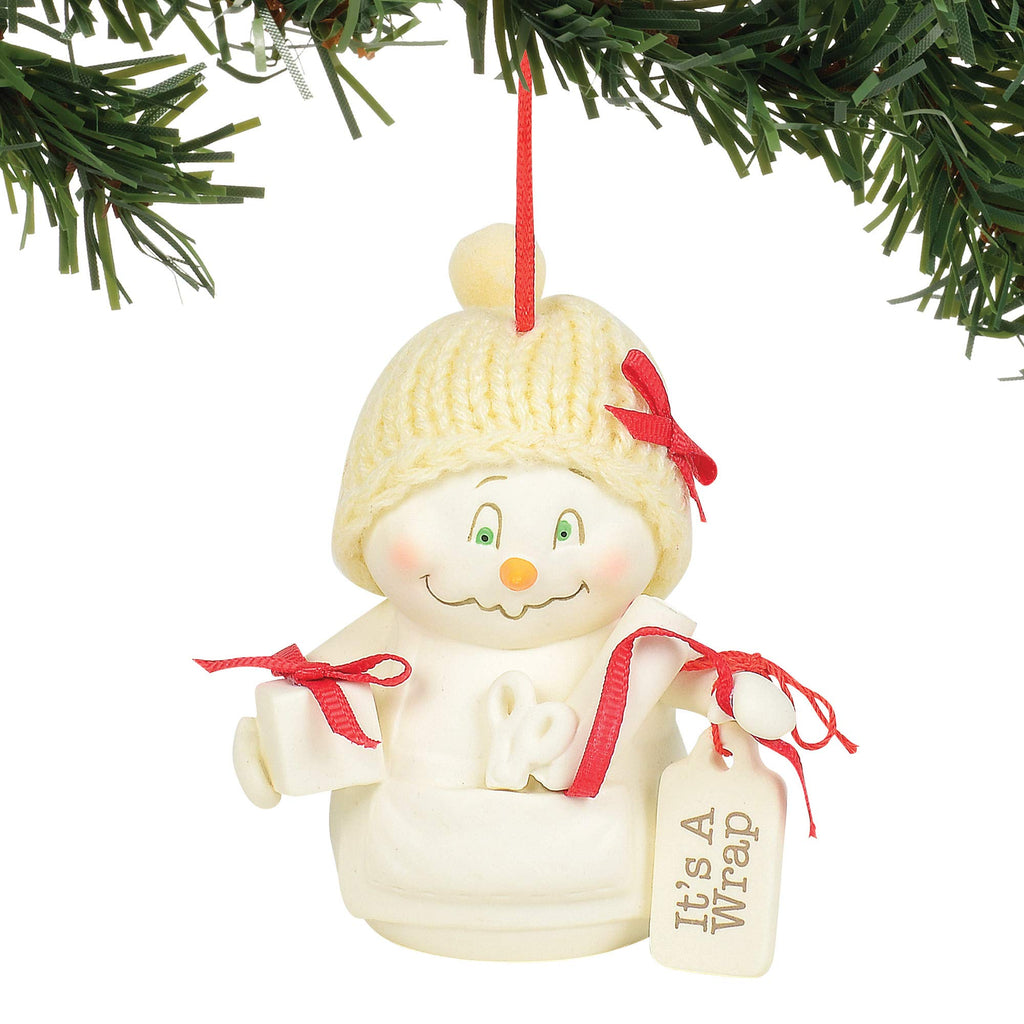 "Department 56 Snowpinions It's a Wrap Hanging Ornament, 3.375"", Multicolor"