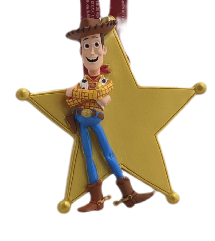 Hallmark Christmas Ornaments, Disney/Pixar Toy Story Woody Sheriff's Badge Personalized Ornament