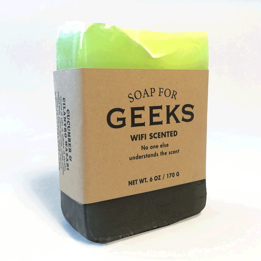 Whiskey River Soap Co. - Soap for Geeks, 6 oz, Cucumber and Cilantro Wasabi Scented