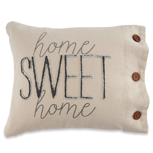 Mud Pie Canvas Pillow, Home Sweet Home