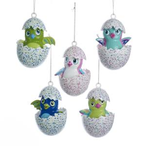 Kurt Adler Plastic Hatchimals Ornaments, Set of 5, 3.5""