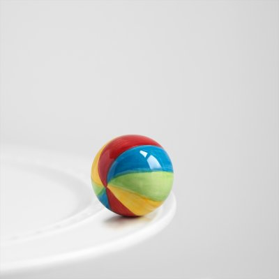 Nora Fleming Beach Ball Mini - Have A Ball - Hand-Painted Ceramic Charm - A14