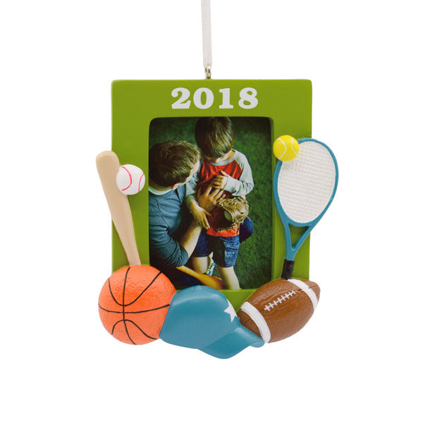 Hallmark All Star Sport Photo Holder Dated Ornament