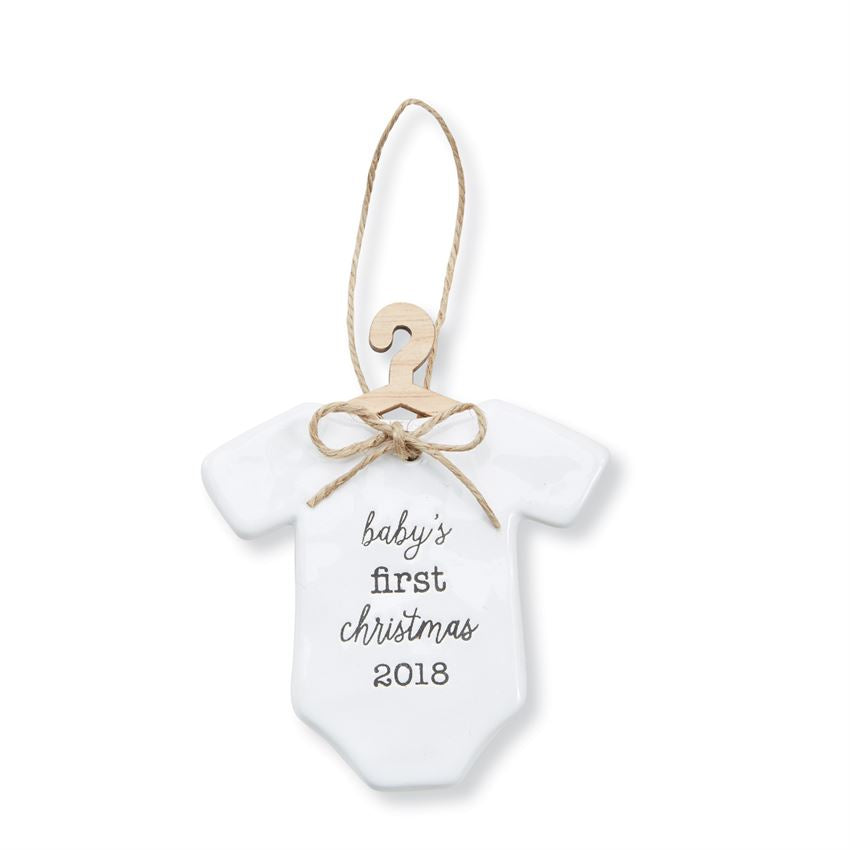 Mud Pie Baby First 2018 Ceramic Ornament