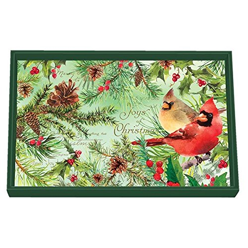 Michel Design Works Wooden Decorative Vanity Tray, Christmas Pine 12.25 x 7.75