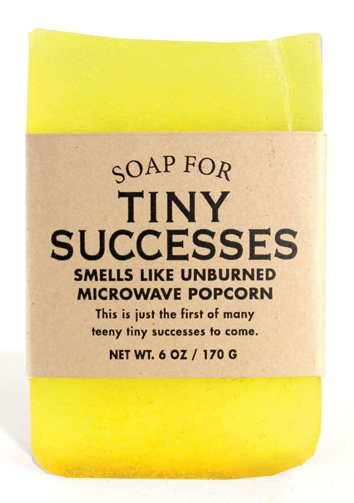 Whiskey River Soap Co. - Soap for Tiny Successes 6 oz, Caramel Popcorn Scented