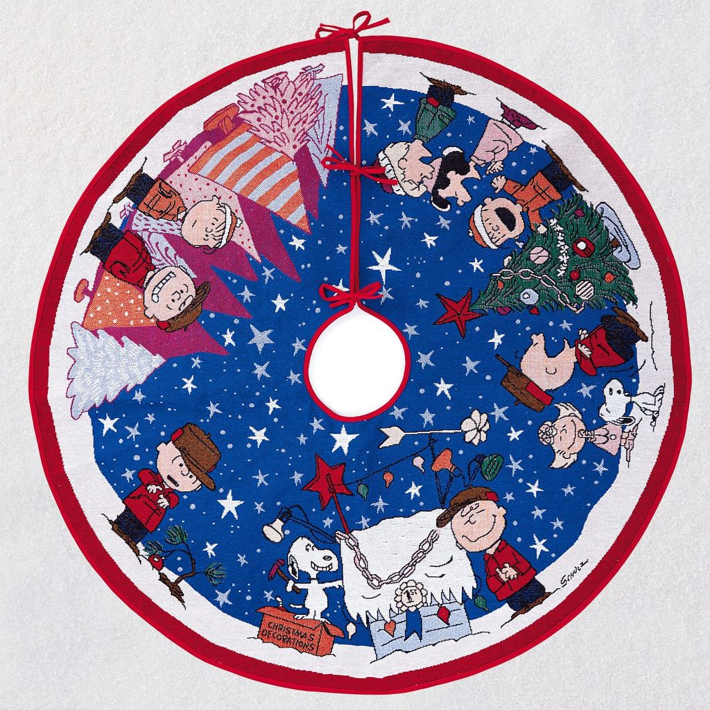 Hallmark Keepsake 2019 Peanuts A Charlie Brown Christmas Tree Skirt With Light