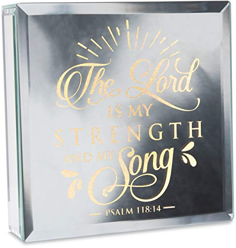 "Pavilion -The Lord is My Strength and My Song Psalm 118:14 - 6""x6"" Mirror Light Up Plaque"