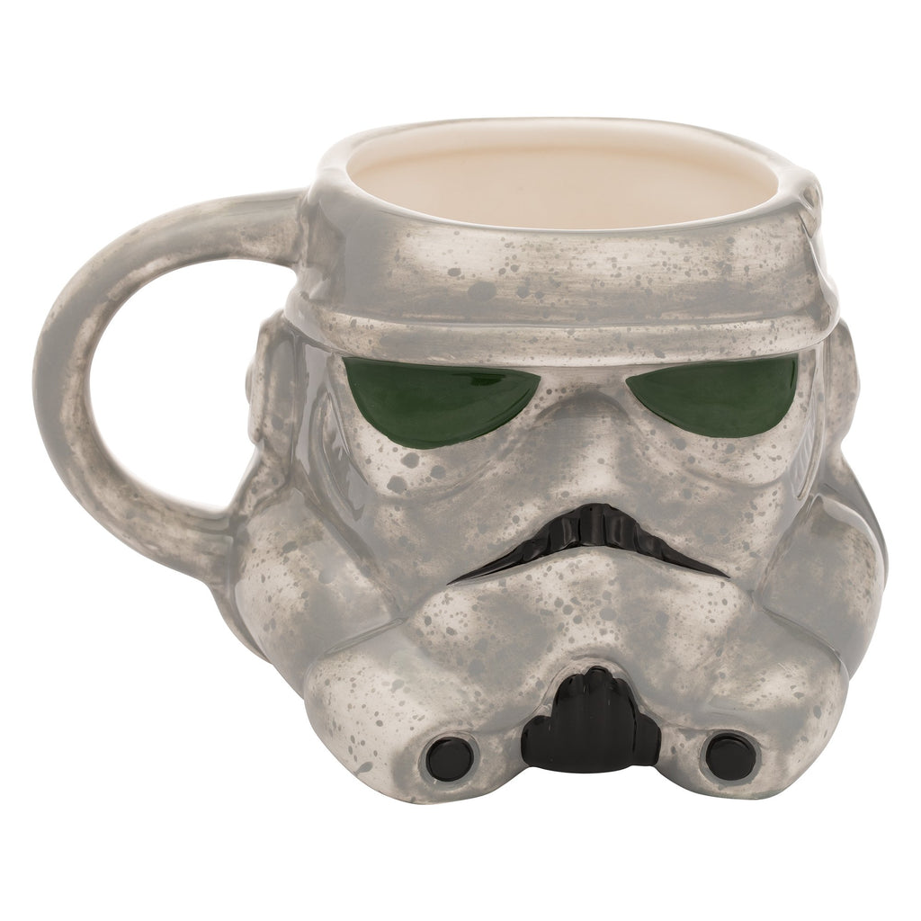 Vandor 56011 Solo: a Star Wars Story Mud Trooper Sculpted Ceramic Soup Coffee Mug Cup, 20 Ounce, Gray