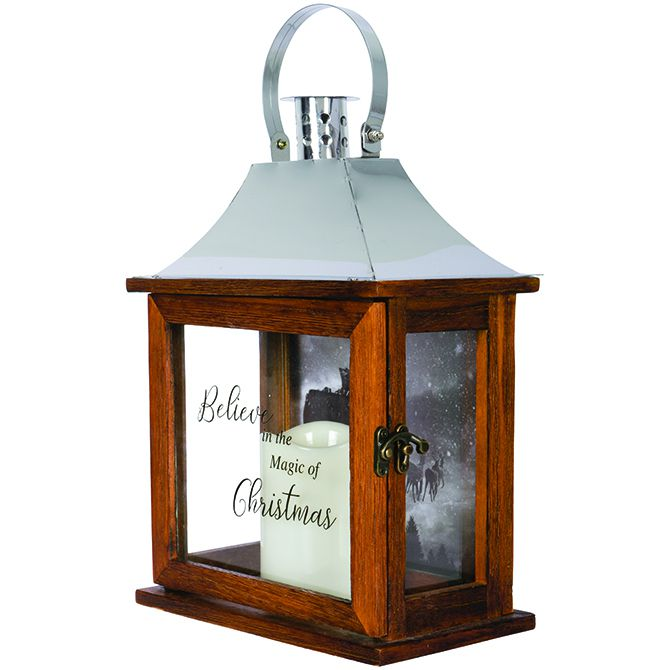 "Carson  Carson ""Believe"" Decorative Lantern"