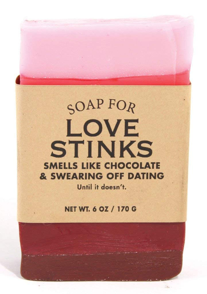 Whiskey River Soap Co. - Soap for Love Stinks 6 oz, Chocolate Strawberries Scented