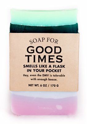 Whiskey River Soap Co. - Soap for Good Times, 6 oz, Straight Up Hooch Scented