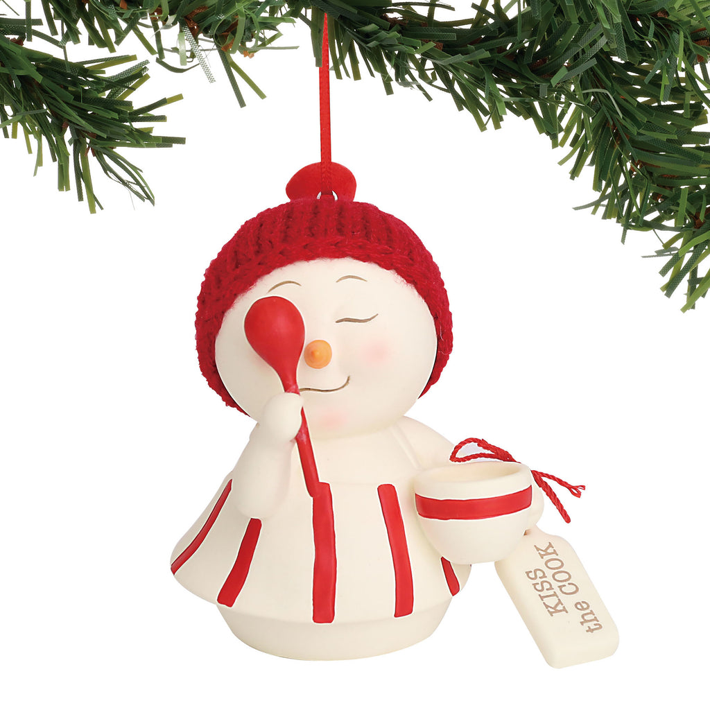 Department 56 Snowpinions Kiss the Cook Ornament, 3.25""