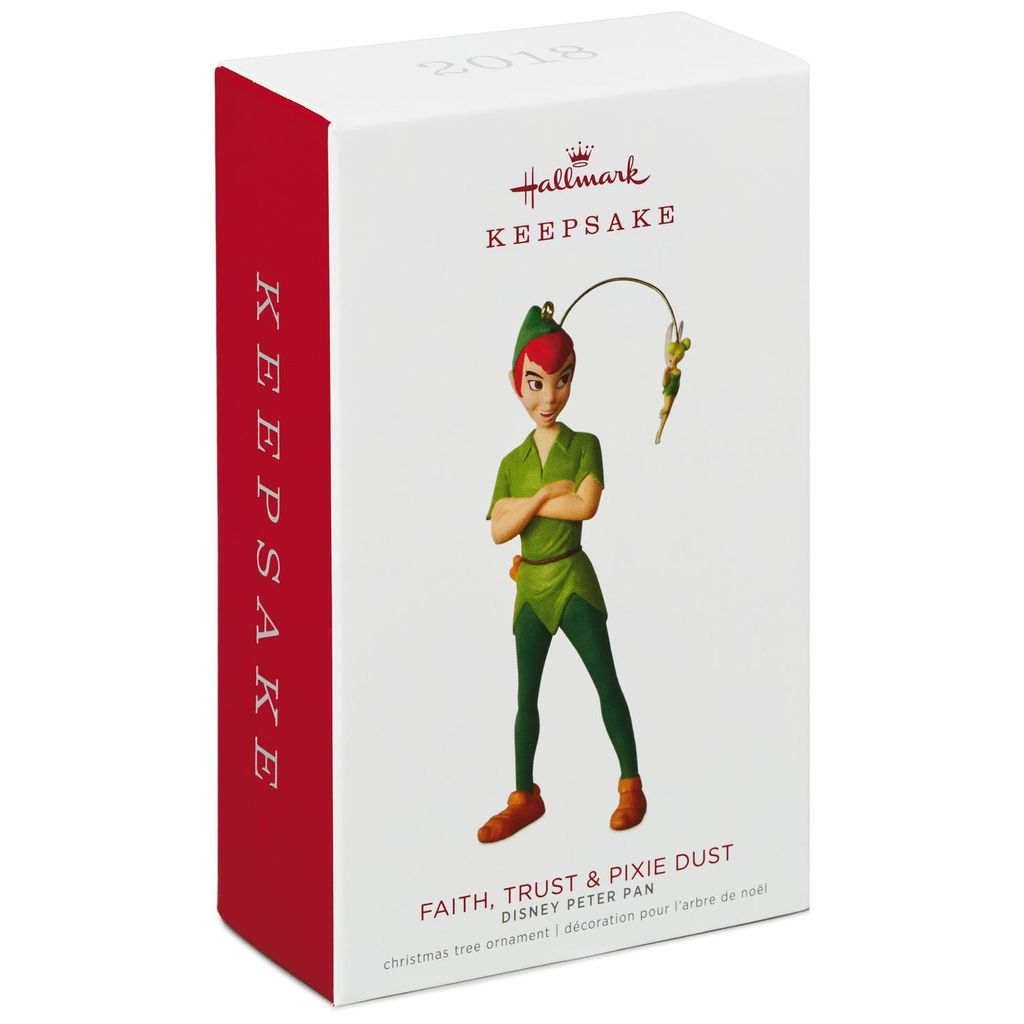 Hallmark Keepsake 2018 Disney Peter Pan Faith, Trust & Pixie Dust Ornament