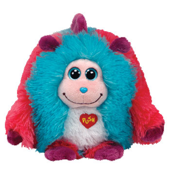 "TY Monstaz Jazzy Pink/Blue/Purple Plush, 7"" Sound Works 2012"