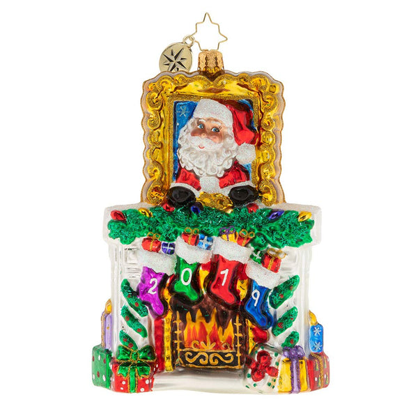 Christopher Radko 2019 Fireside Christmas Ornament