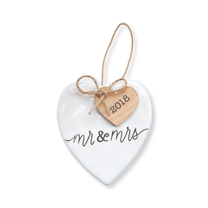 Mud Pie 2018 Mr. & Mrs. Ornament