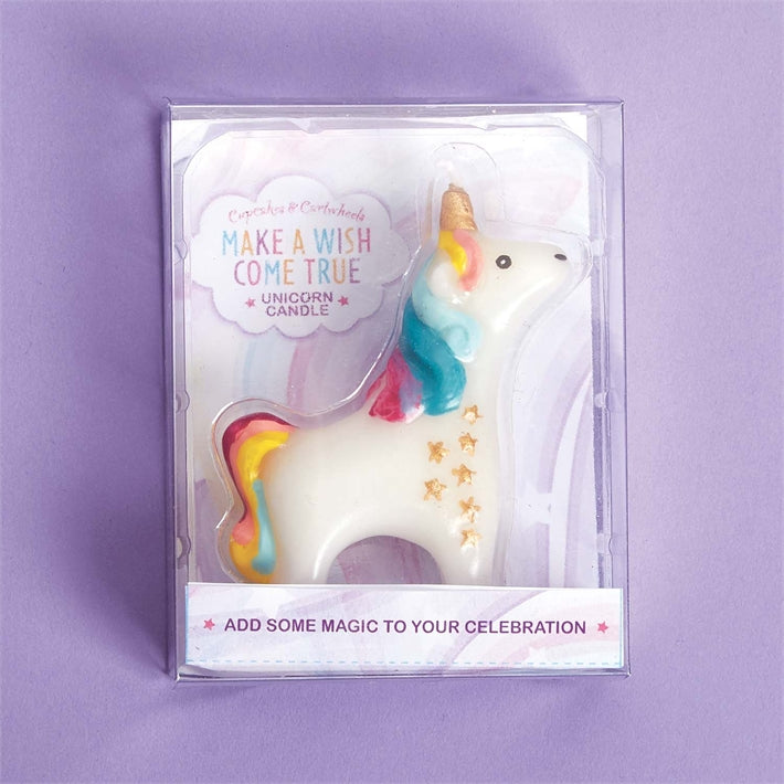 Cupcakes & Cartwheels Wish Come True Unicorn Candle In Gift Box