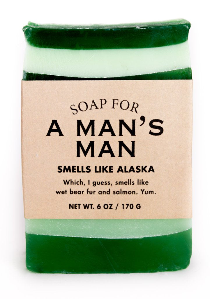 Whiskey River Soap Co. - Soap for A Man's Man, 6 oz, Blizzard Campfire scented