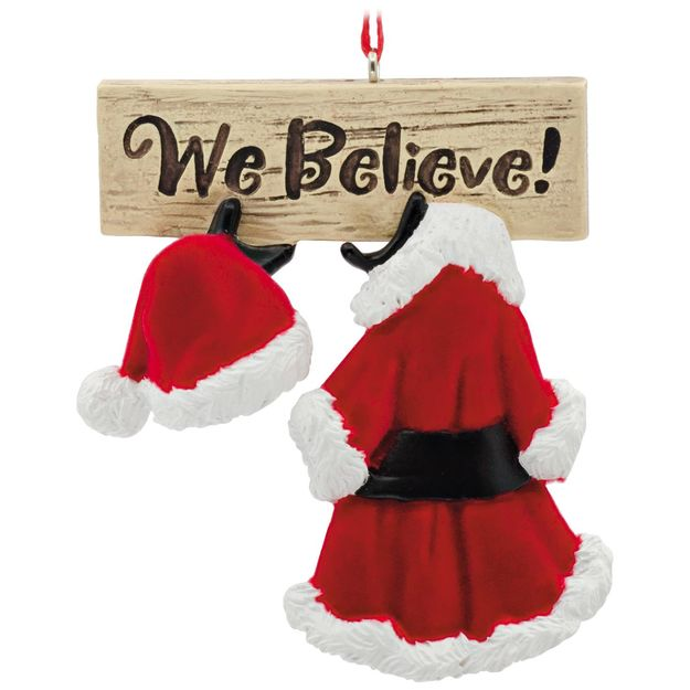 We Believe in Santa Hallmark Ornament