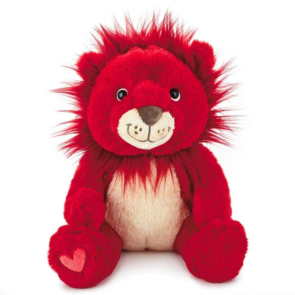 Hallmark You're My Mane Squeeze Red Lion Stuffed Animal, 9.5""