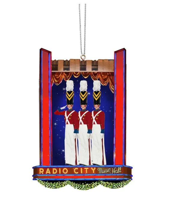 "Rockette Soldiers On Stage Ornament 5"" Height"
