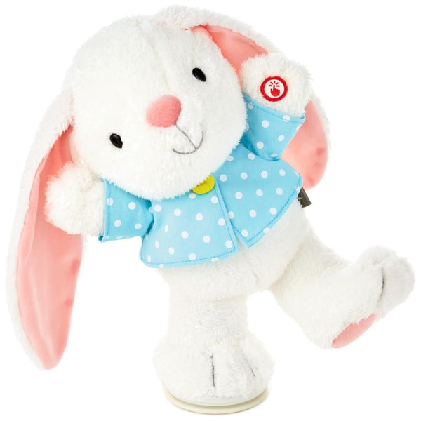 Hallmark Hoppy Easter! Bunny Musical Stuffed Animal With Motion, 12""
