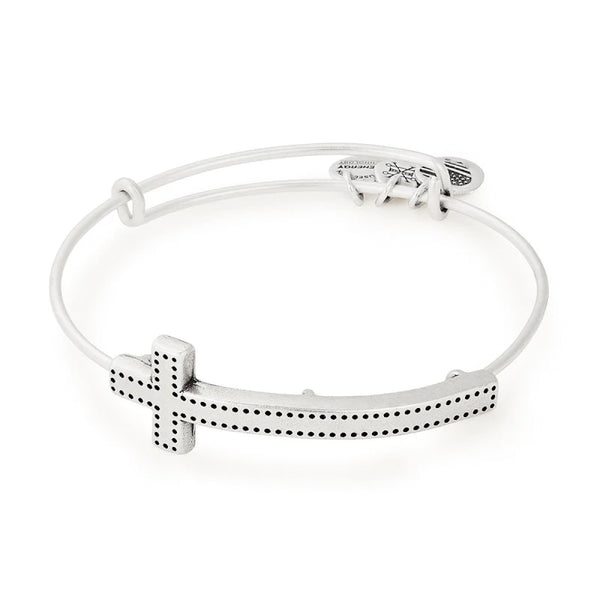 Alex and Ani Cross Spiritual Armor Bangle RAFAELIAN SILVER