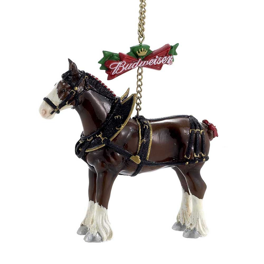 Kurt Adler Budweiser Clydesdale Horse Christmas Tree Ornament